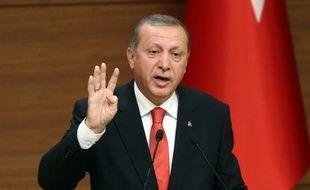 Recep Tayyip Erdogan, le président de la Turquie, le 19 octobre 2015, à Ankara