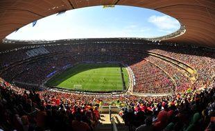 le stade de Soccer City (Johannesbourg), en juin 2010, lors d'un match de la Coupe du monde entre les Pays-Bas et le Danemark.