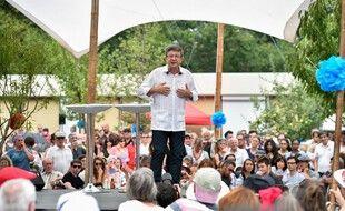 Jean-Luc Mélenchon lors d'un meeting à Toulouse, le 28 août 2016.
