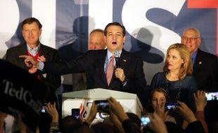 Le républicain Ted Cruz a remporté le caucus de l'Iowa, le 1er février 2016, avec 4 points d'avance sur Donald Trump.