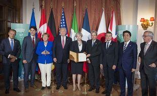 Le sommet du G7 à Taormina vendredi 26 mai 2017.