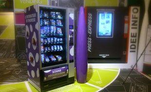 Illustration d'un distributeur Milka présenté au salon Vending, qui détaille les innovations de la distribution automatique.