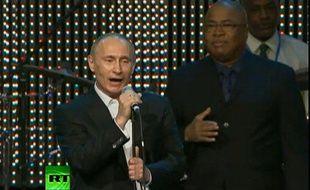 Vladimir Poutine, lors d'un gala de charité, le 10 décembre 2010