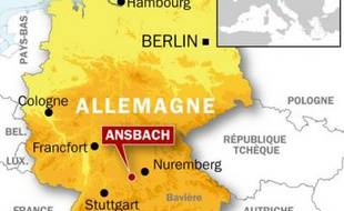 Quatre élèves ont été blessés par un inconnu dans un lycée à Ansbach, en Bavière.