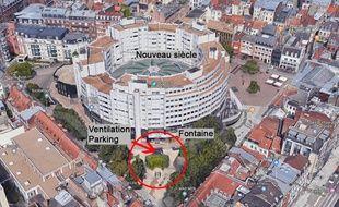 L'accident à eu lieu au Nouveau siècle, à Lille.