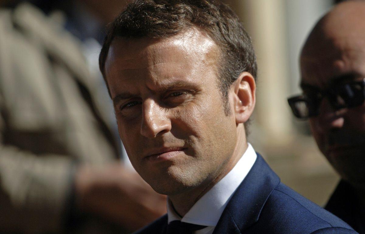 Emmanuel Macron le 14 fevrier 2017.  – STRINGER / AFP