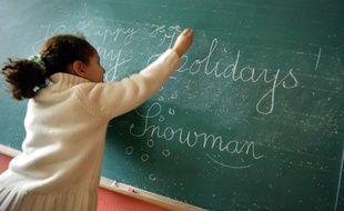 Un cours en anglais dans une école élémentaire.