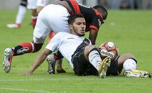 Henrique Silva, ici en 2018 lors d'un match entre Vasco et Flamengo.