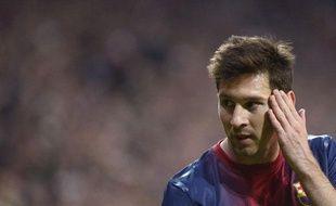 L'Argentin de Barcelone Lionel Messi, le 23 avril 2013, à Munich contre le Bayern.