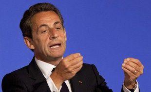 Le président de la République Nicolas Sarkozy s'exprime lors de l'installation du Conseil national numérique (CNN), à l'Elysée, le 27 avril 2011.