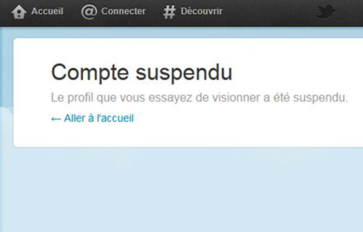 Sur Twitter, plusieurs comptes parodiant ou critiquant Nicolas Sarkozy ont été suspendus entre le 16 et le 20 février 2012. – CAPTURE D'ECRAN/20MINUTES.FR