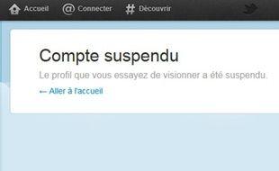 Sur Twitter, plusieurs comptes parodiant ou critiquant Nicolas Sarkozy ont été suspendus entre le 16 et le 20 février 2012.