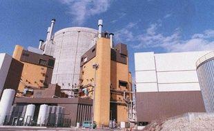 Le réacteur nucléaire Superphénix de Creys-Malville (Isère), le 10 avril 1987