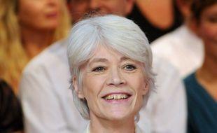 """Francoise Hardy. Enregistrement de l'emission """"Vivement Dimanche"""" consacree à Julien Clerc  sur France 2. Paris, FRANCE-08/10/2008"""