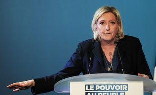Marine Le Pen, le 16 mai 2019 à Fessenheim.