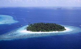 Les Maldives, archipel de l'Océan Indien dont l'existence est menacée par la hausse du niveau des océans.