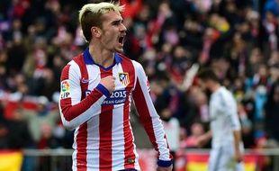 L'attaquant de l'Atletico Madrid Antoine Griezmann, le 7 février 2015, contre le Real Madrid.