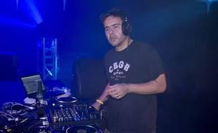 Le DJ français Laurent Garnier à Nice en 2013.