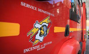 Un camion de pompiers du Bas-Rhin à Strasbourg. (illustration)