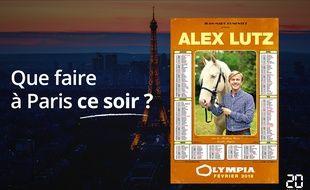 Alex Lutz est à l'Olympia.