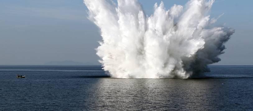 L'opération de déminage aura lieu ce mardi après-midi dans la baie de Morlaix.