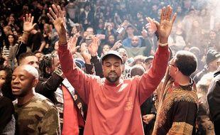 Kanye West le 11 février à New York, pour la sortie de son album «The Life of Pablo».
