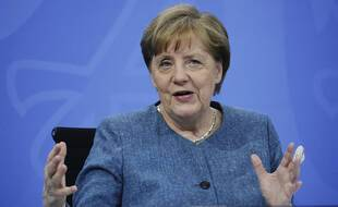 Angela Merkel à Berlin, le 26 avril.