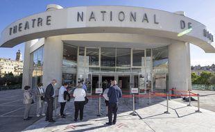 Le Théâtre national de Nice le 21 mai 2021