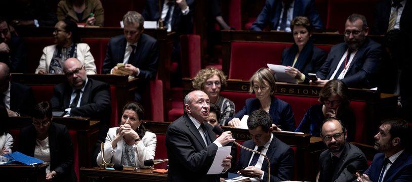 Gérard Collomb à l'Assemblée nationale le 11 avril 2018.