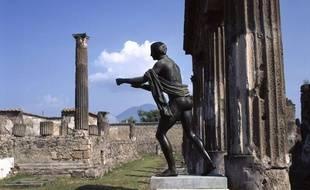 Le temple d'Apollon à Pompéi.