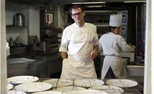 Laurent Jeannin, chef pâtissier de l'hôtel Le Bristol à Paris, le 6 décembre 2012.