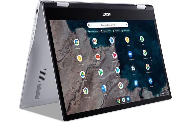 Le Spin 513, un Chromebook basique qui bascule en mode tente.