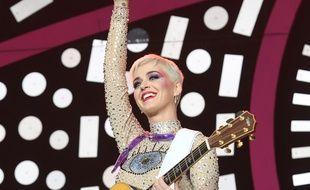 La chanteuse Katy Perry à l'édition 2017 du festival Glastonbury.
