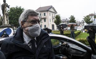 Le ministre des Transports, Enrico Giovannini  s'est rendu sur le lieu de l'accident à Stresa lundi 24 mai 2021.