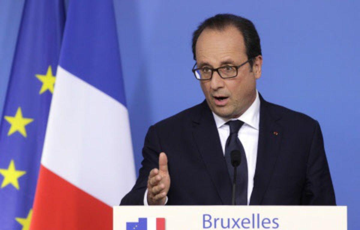 François Hollande s'adresse aux journalistes après un sommet européen à Bruxelles, le 31 août 2014. –  Yves Logghe/AP/SIPA