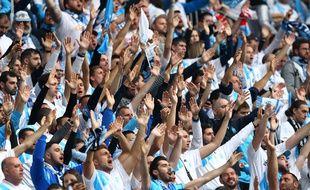 Des supporters marseillais à Lyon, lors de la finale.