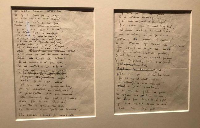 Le manuscrit de la chanson «Nantes» de Barbara.