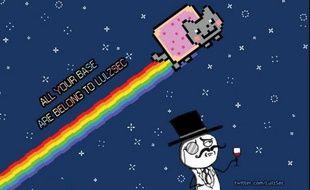 Une image emblème du groupe de hackers LulzSec, sur leur compte Twitter.