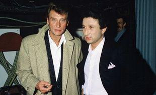 Johnny Hallyday et Michel Drucker dans l'émission «Champs Elysées».