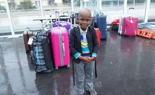 Morciré, 5 ans, part pour la première fois en Suisse cet été avec le Secours populaire.