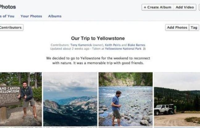 Sur Facebook, un album photo partagé peut avoir jusqu'à 50 contributeurs.