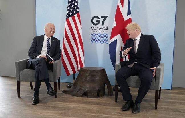 Joe Biden et Boris Johnson à la veille du G7, en Cornouailles, le 10 juin 2021.