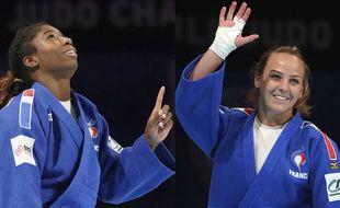 Marie-Eve Gahié et Margaux Pinot, à la lutte pour une place aux Jeux olympiques de Tokyo.