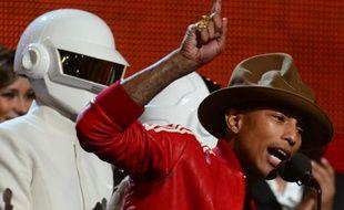 Pharrell Williams lors de la 56e cérémonie des Grammy Awards le 26 janvier 2014 à Los Angeles
