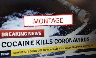 Cette photo Twitter fait croire que la cocaïne peut tuer le coronavirus.
