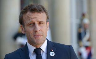 Emmanuel Macron lors d'une conférence de presse à l'Elysée, le 16 mai 2019.