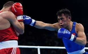 Un combat de boxe aux JO 2016 de Rio (photo d'illustration).