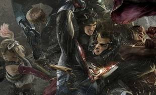 Près de 40 super héros issus de la mythologie DC Comics.