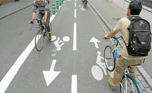 Illustration: Pratique du vélo à Strasbourg.