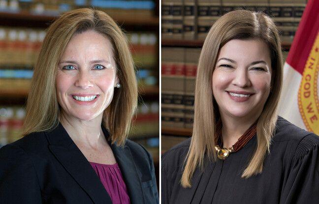 Les juges Amy Coney Barrett et Barbara Lagoa tiennent la corde pour être nommée par Donald Trump à la Cour suprême.